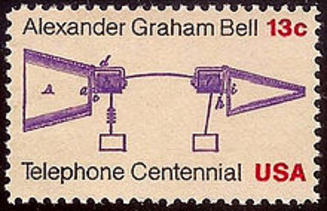 Alexander Graham Bell issued a patent for the Telephone
