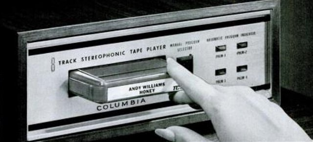 Compatible Stereo disks and record players are offered for sale
