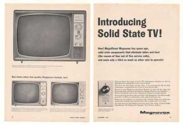 """Sony introduces the first """"solid-state"""" TV set, using transistors instead of vacuum tubes"""