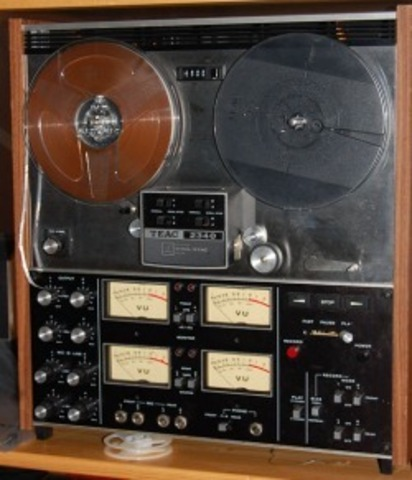 Multitrack analog tape recording starts being used in recording studios