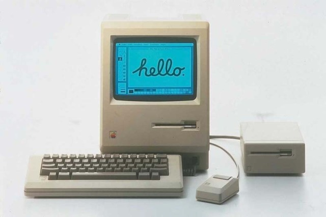 """The  Apple Macintosh personal computer debuts with a Graphical User Interface            advertised as """"the computer for the rest of us"""
