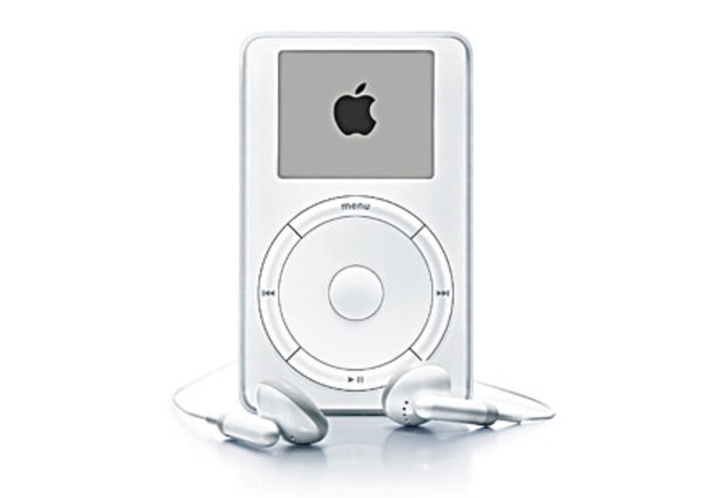 Apple Computer introduces the iPod portable music player for playing            mp3 files, and it is a big hit, helping re-establish Apple's innovative reputation and            improve their bottom line.