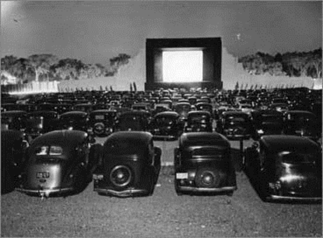 The first Drive-In Movie Theater in Camden, NJ