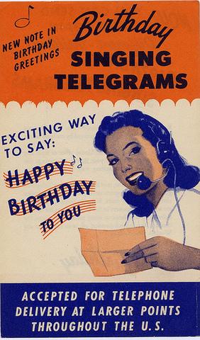 "The first ""singing telegram"" service."