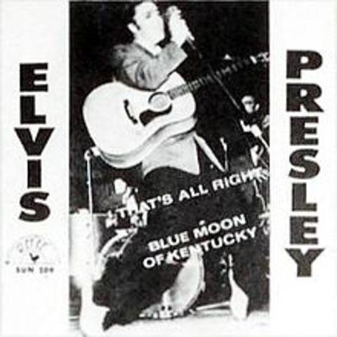 Elvis Presley records 'That's All Right Mama' at Sun Studios, Memphis