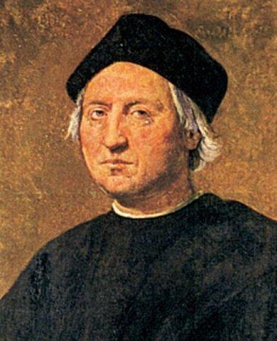 Christopher Columbus Sales the Ocean Blue