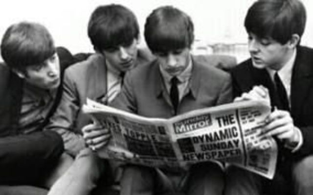The Beatles get inducted into the Rock and Roll Hall of Fame