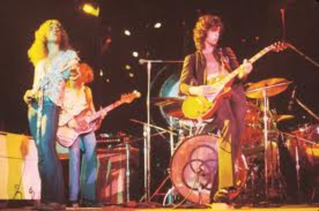 Led Zeppelin plays at their first gig