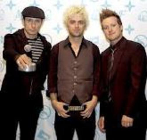 Green Day plays at it's first live performance