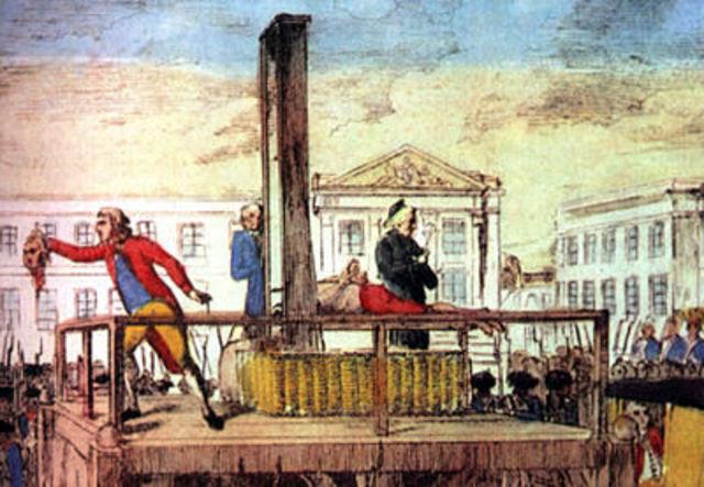 Louis XVI executed.