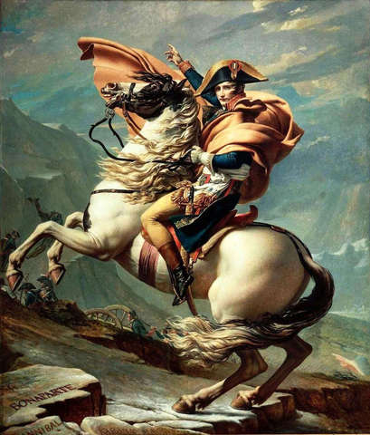 Napoleon in command of French army