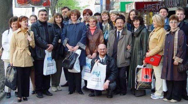 Украинско-Российская образовательная конференция Intel в г.Одессе (Украина) для организаторов программы из педвузов и университетов, апрель 2005
