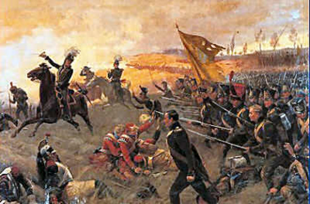 Napoleon is defeated at the Battle of Waterloo