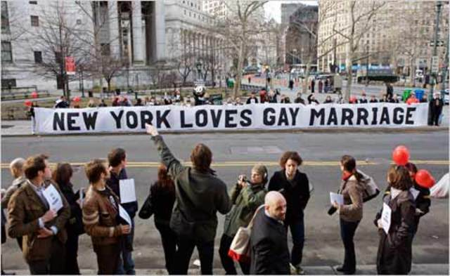 Same sex marraige becomes legal in many places around the world
