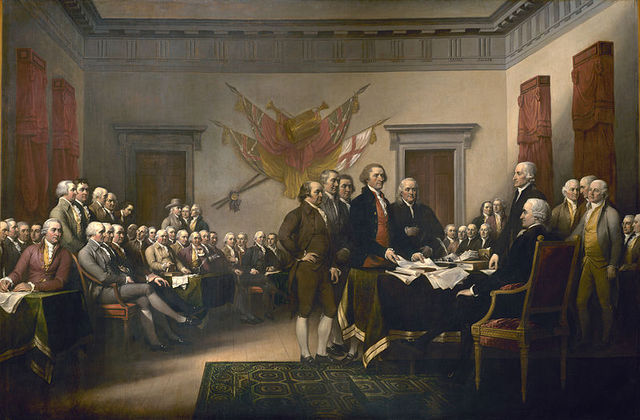 American Declaration of Independence Signed