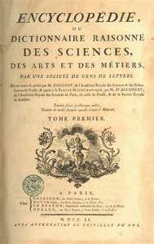 Diderot Writes  the Encyclopedia