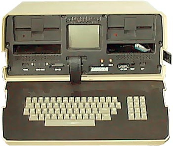 The First Square screen laptop.