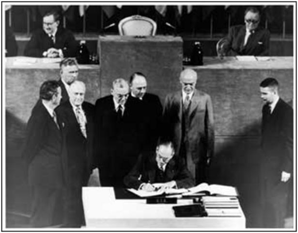 Truman signs Mutual Security Act