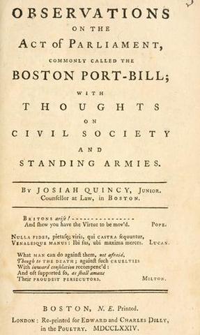 The Boston Port Bill
