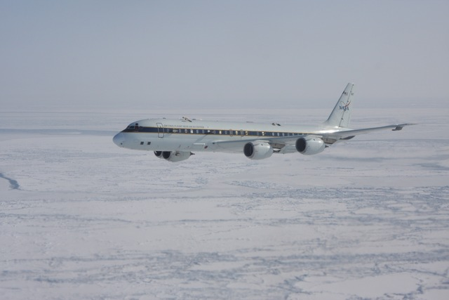 The DC-8 makes its maiden flight