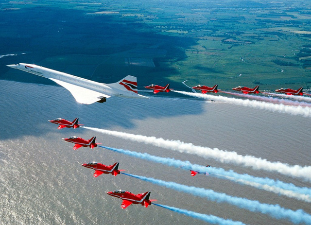 The Concorde's first flight takes place