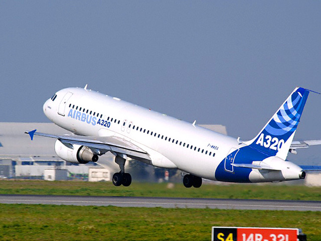 A320 is first seen flying in public