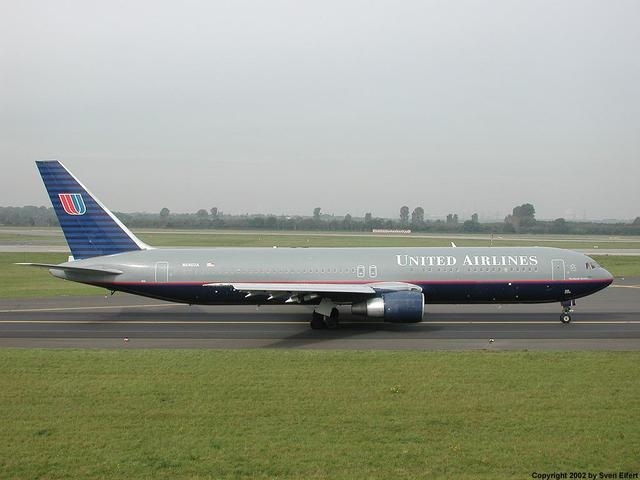 The 767 makes its maiden flight