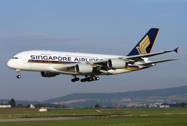 the A380 makes its maiden flight