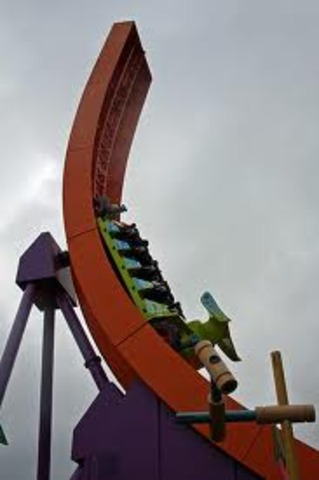 I rode the toy story roller coaster