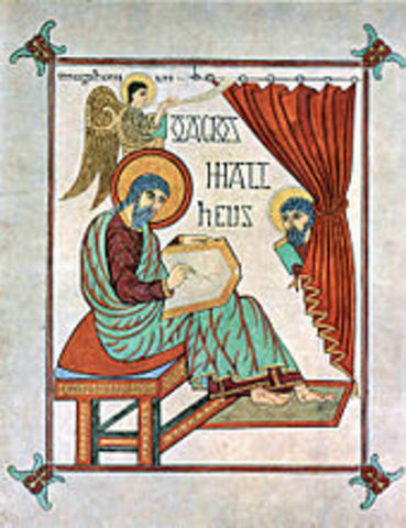 Saint Matthew from the Book of Lindisfarne