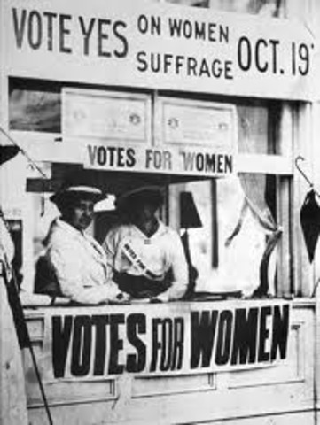 Women Are Granted the Right to Vote