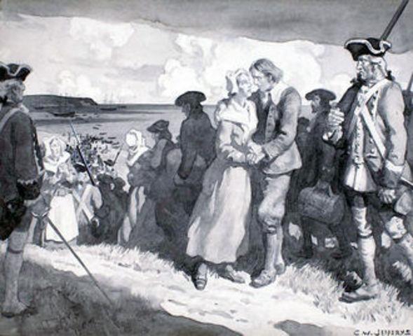 The British attack and seize Acadia (Nova Scotia)