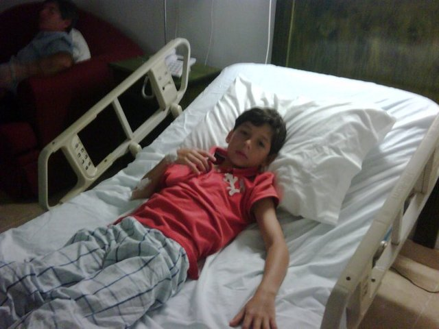 i was at the hospital
