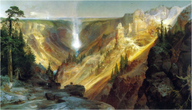 Grand Canyon of the Yellowston, Thomas Moran, 1827