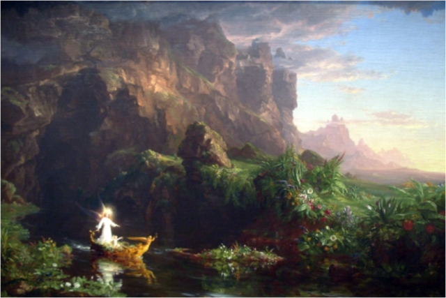 The Voyage of Life, Childhood, Thomas Cole