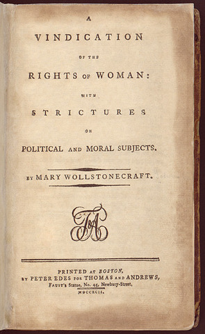 A Vindication of the Rights of Women- Mary Wollstonecraft
