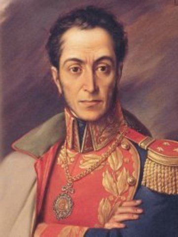 Simón Bolivar begins a series of South American rebellions against Spain