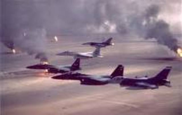 US launches operation desert storm in Iraq