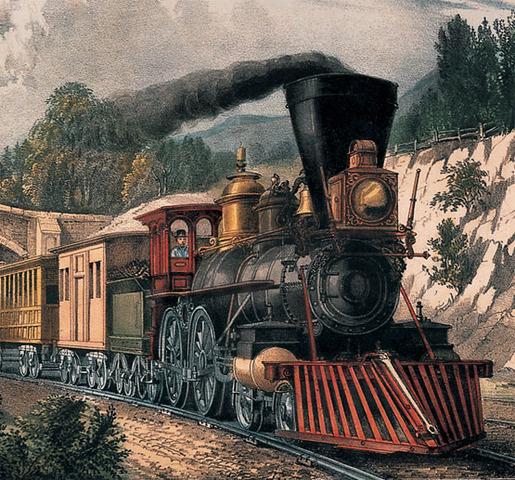 Se inventa la locomotora de vapor