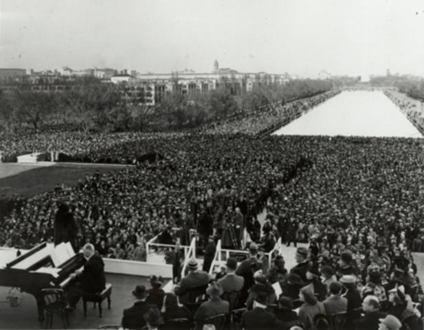 Sang at Lincoln Memorial