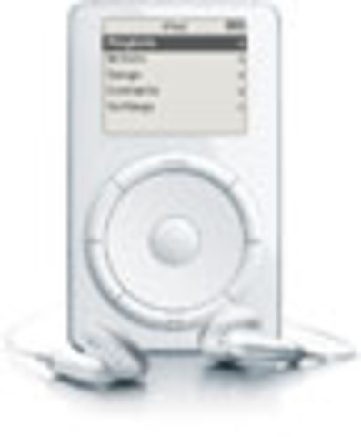 "Apple presents iPod, offering ""1,000 songs in your pocket"""