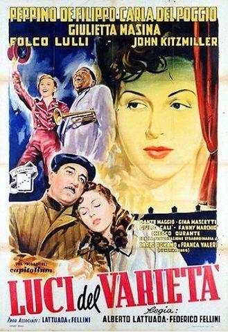 """In 1951, """"Luci del varieta""""  il primo film di Fellini debuto'"""