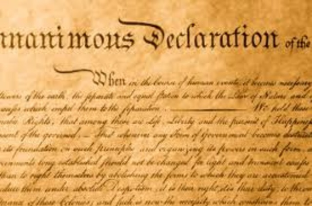 The final Declaration of Independence