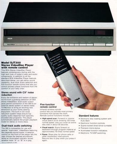 RCA Introduces Their J-Line of CED VideoDisc Players
