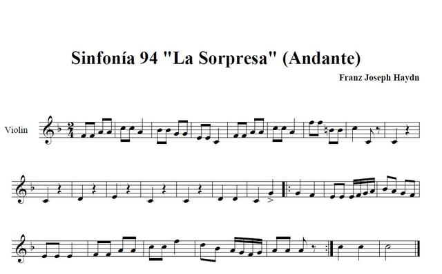 """La Sorpresa"" Simfonia de Haydn"