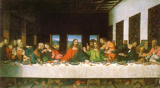 da Vinci paints The Last Supper