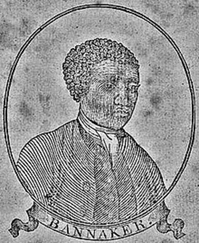 Benjamin Banneker builds the first clock in America