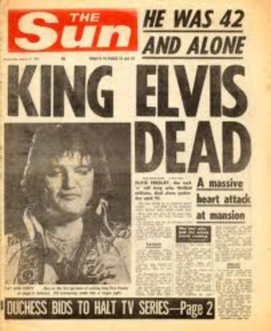 •Elvis Found Dead
