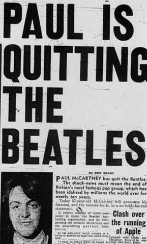 Break up of the Beatles