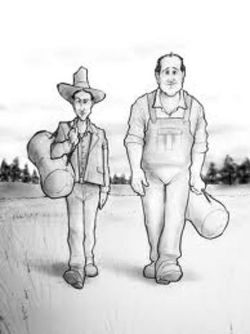 George and Lennie look for jobs.